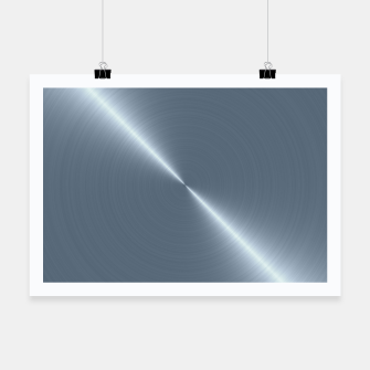 Thumbnail image of Cold Blue Steel Machined Metal  Poster, Live Heroes
