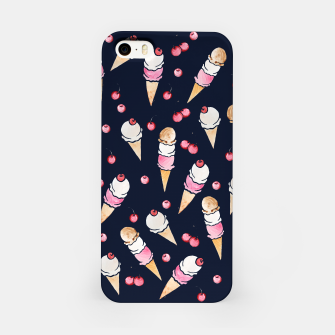 Thumbnail image of Ice Cream Cones with Cherry on top iPhone Case, Live Heroes