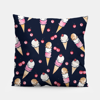 Thumbnail image of Ice Cream Cones with Cherry on top Pillow, Live Heroes