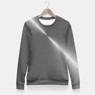 Bright Polished Titanium Metal   Fitted Waist Sweater thumbnail image