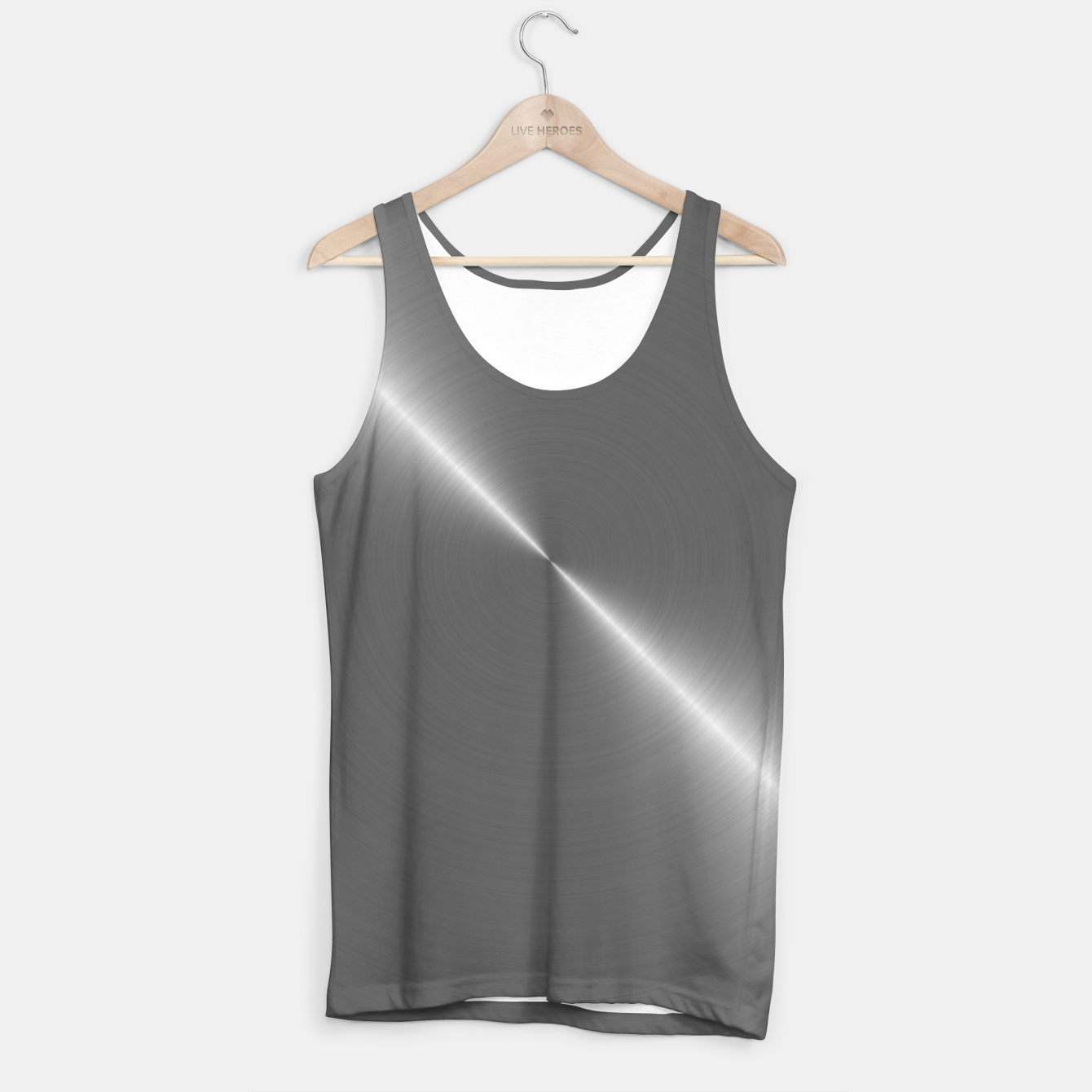 Image of Bright Polished Titanium Metal   Tank Top - Live Heroes