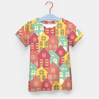 Miniaturka Town Houses Kid's T-shirt, Live Heroes