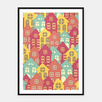 Miniaturka Town Houses Framed poster, Live Heroes