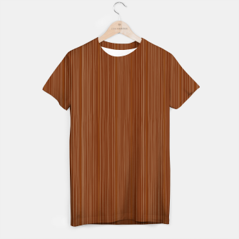 Thumbnail image of Artistic t-shirt with Wood decor brown II, Live Heroes