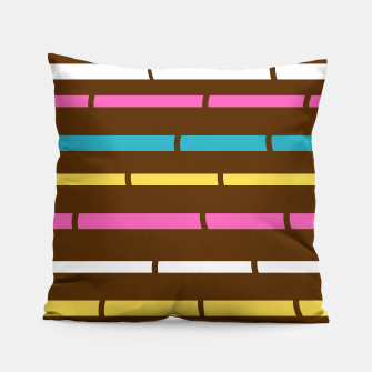 Thumbnail image of Designers Original craft Pillow : Bamboo Art Pillow, Live Heroes