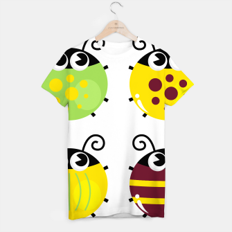 Miniaturka Creative T-Shirt with Manga Bees : Green Yellow, Live Heroes