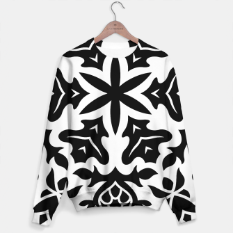 Miniaturka Sweater Mandala printed art surface Blackwhite, Live Heroes