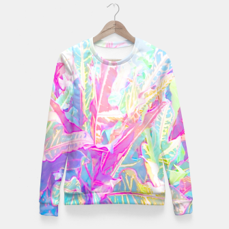 Tropical croton leaves 1/2 Women sweater thumbnail image