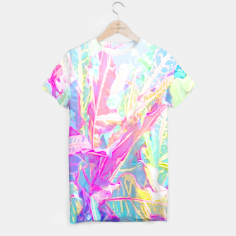 Tropical croton leaves 1/2 T-shirt thumbnail image