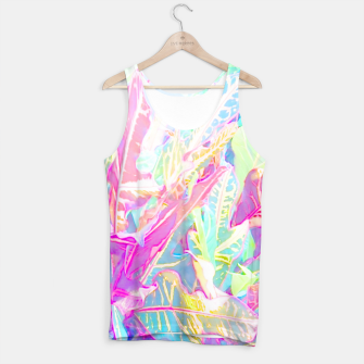 Tropical croton leaves 1/2 Tank Top thumbnail image