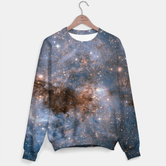 Thumbnail image of The Nebula - Red and Orange Space Nebulae Cotton sweater, Live Heroes