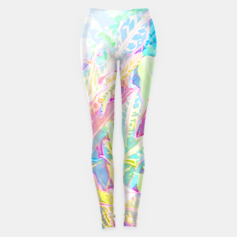 Tropical croton leaves 1/2 Leggings thumbnail image