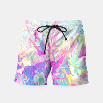 Tropical croton leaves 1/2 Swim Shorts thumbnail image