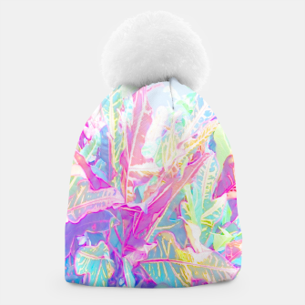 Tropical croton leaves 1/2 Beanie thumbnail image