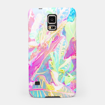 Tropical croton leaves 1/2 Samsung Case thumbnail image