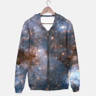 Thumbnail image of The Nebula - Red and Orange Space Nebulae Cotton zip up hoodie, Live Heroes