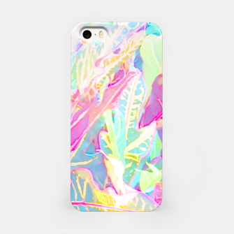 Tropical croton leaves 1/2 iPhone Case thumbnail image