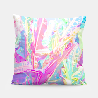 Tropical croton leaves 1/2 Pillow thumbnail image