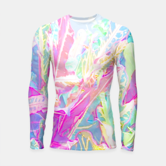 Tropical croton leaves 1/2 Longsleeve rashguard  thumbnail image