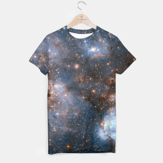 Thumbnail image of The Nebula - Red and Orange Space Nebulae T-shirt, Live Heroes