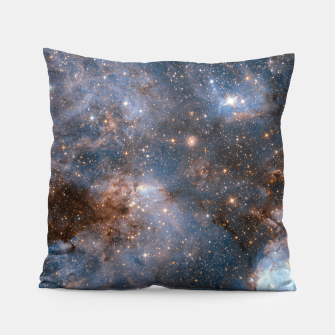 Thumbnail image of The Nebula - Red and Orange Space Nebulae Pillow, Live Heroes