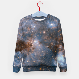 Thumbnail image of The Nebula - Red and Orange Space Nebulae Kid's sweater, Live Heroes