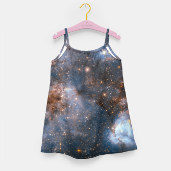 Thumbnail image of The Nebula - Red and Orange Space Nebulae Girl's dress, Live Heroes