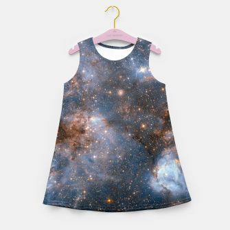 Thumbnail image of The Nebula - Red and Orange Space Nebulae Girl's summer dress, Live Heroes