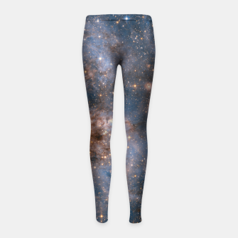 Thumbnail image of The Nebula - Red and Orange Space Nebulae Girl's leggings, Live Heroes