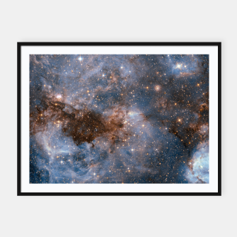 Thumbnail image of The Nebula - Red and Orange Space Nebulae Framed poster, Live Heroes