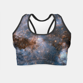 Thumbnail image of The Nebula - Red and Orange Space Nebulae Crop Top, Live Heroes