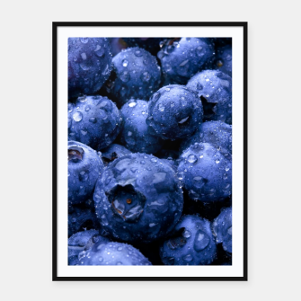 Thumbnail image of blueberries Plakaty w ramie , Live Heroes