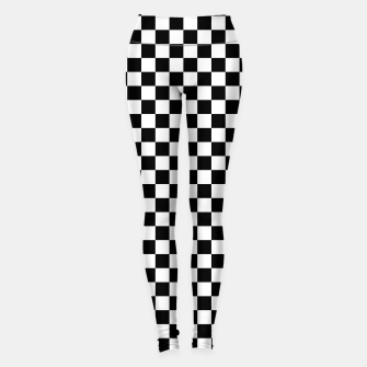 Miniaturka Classic Vintage Black and White Check Leggings, Live Heroes
