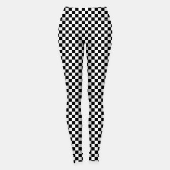 Miniaturka Classic Vintage Small Black and White Check Leggings, Live Heroes