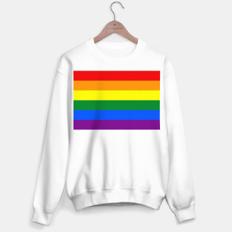 Miniatur Large Gay Pride Rainbow Equality and Freedom Flag Sweater regular, Live Heroes