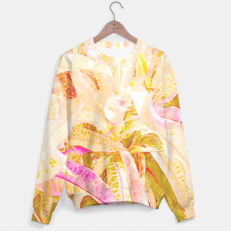 Tropical croton leaves 2/2 Unisex sweater thumbnail image