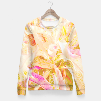 Tropical croton leaves 2/2 Women sweater thumbnail image