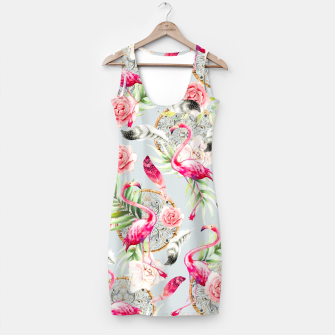 Thumbnail image of Flowered boho with flamingos Vestido, Live Heroes
