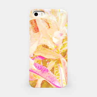 Tropical croton leaves 2/2 iPhone Case thumbnail image