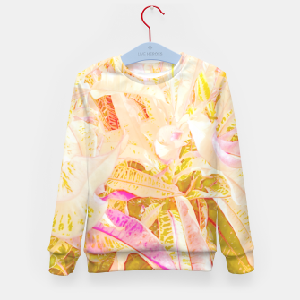 Tropical croton leaves 2/2 Kid's sweater thumbnail image