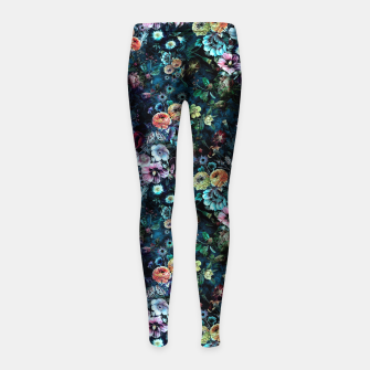 Miniatur Night Garden Girl's Leggings, Live Heroes