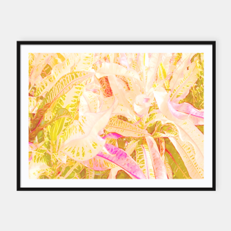 Tropical croton leaves 2/2 Framed poster thumbnail image