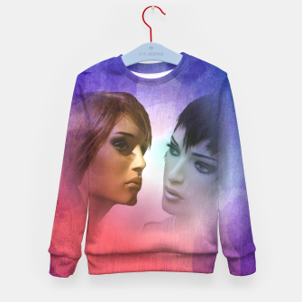 Thumbnail image of girlfriends Kid's Sweater, Live Heroes