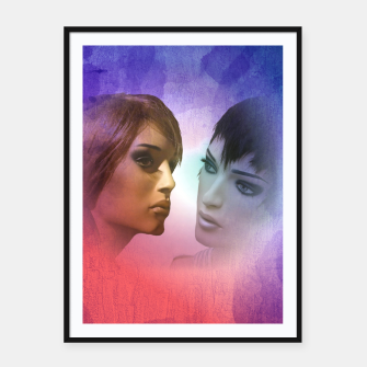 Thumbnail image of girlfriends Framed poster, Live Heroes