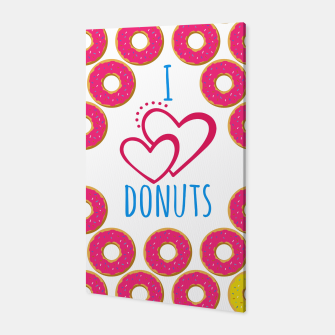 Thumbnail image of I love donuts poster. Creative illustration for greeting cards, banners, posters or wallpapers. Canvas, Live Heroes