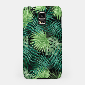 Miniatur Large Fern Palm and Monstera Jungle Leafs Samsung Case, Live Heroes