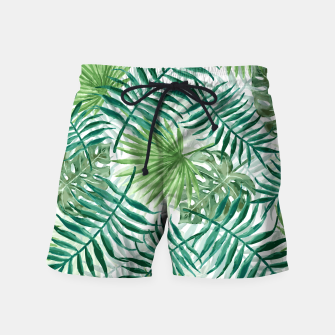 Miniatur Large Fern Palm and Monstera Tropical Plant Leafs Swim Shorts, Live Heroes