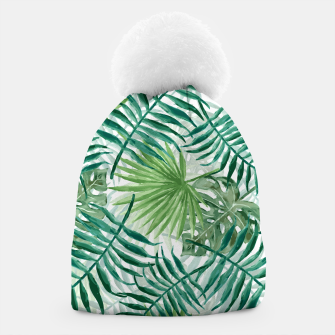 Miniatur Large Fern Palm and Monstera Tropical Plant Leafs Beanie, Live Heroes