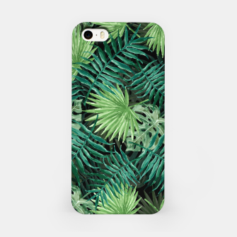 Miniatur Large Fern Palm and Monstera Jungle Leafs iPhone Case, Live Heroes
