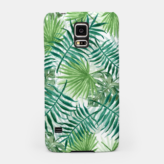 Miniatur Large Fern Palm and Monstera Tropical Plant Leafs Samsung Case, Live Heroes